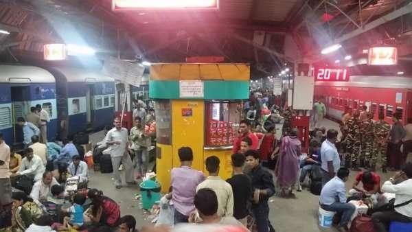 New Delhi India Train Station
