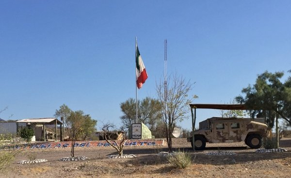 Army Checkpoint Baja Mexico