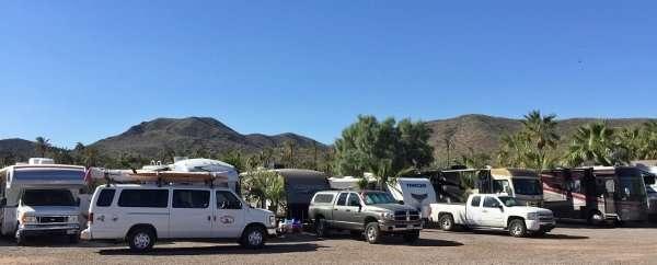 Camping at Hotel Serenidad Baja Mexico