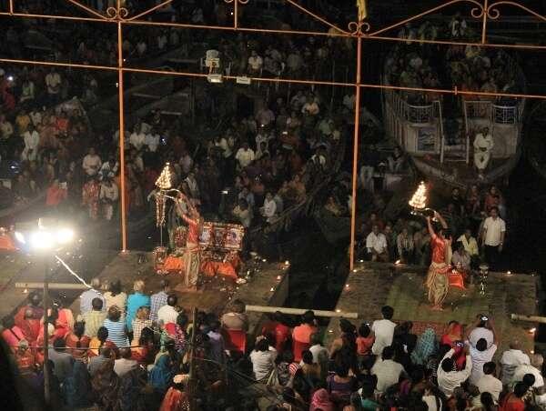 Aarti Ceremony Varanasi India