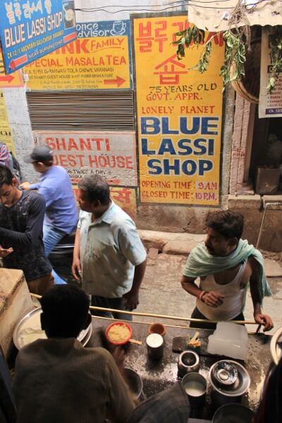 Blue Lassi Shop Varanasi