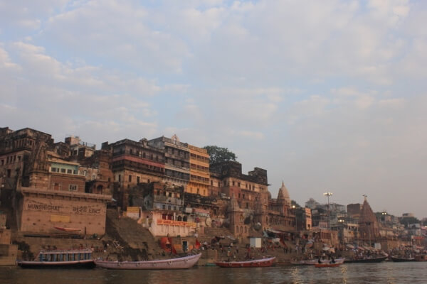 Ghats on the Ganges River Varanasi India