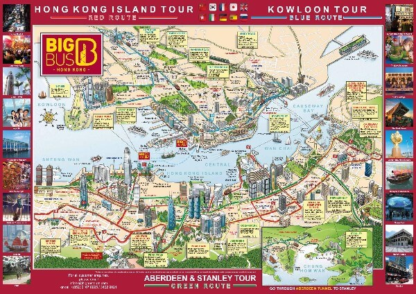 Big Bus Tours Hong Kong Route Map