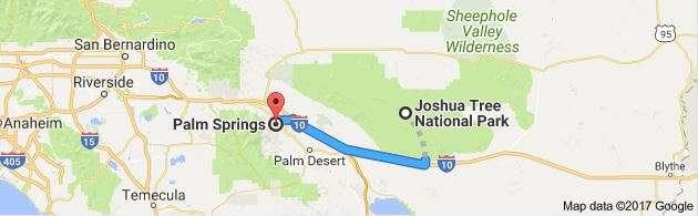 Joshua Tree National Park Google Map