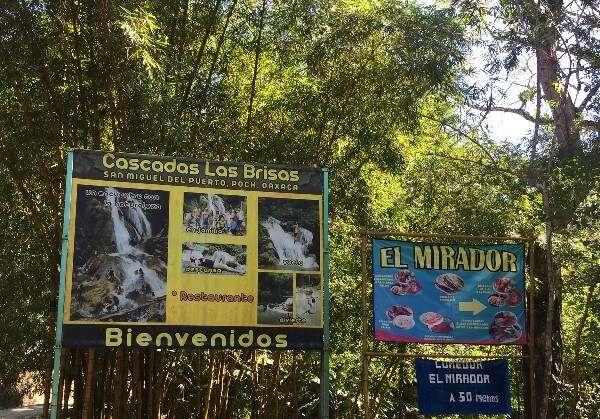 Cascadas Las Brisas Sign Huatulco