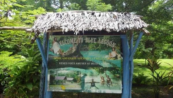 Blue Lagoon Sign - Vanuatu