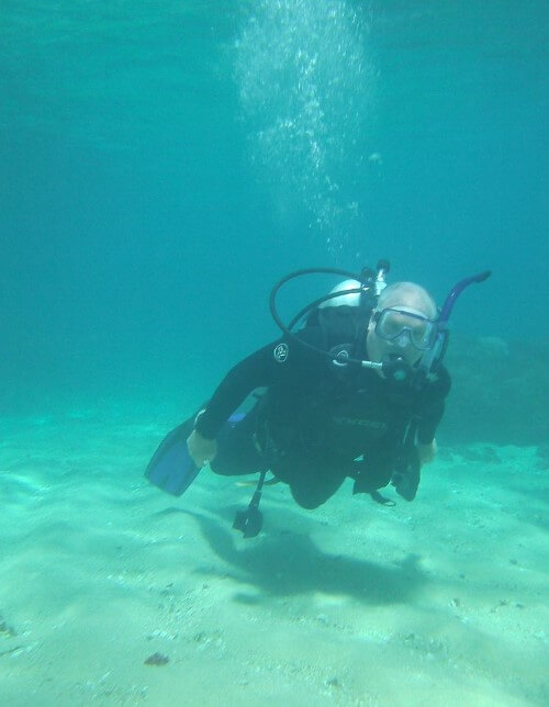Diving in Huatulco Mexico