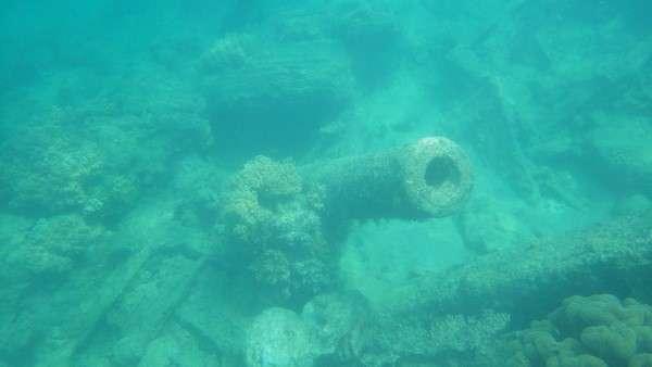 Million Dollar Point Artifacts Underwater