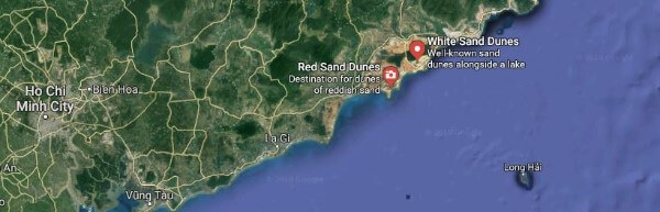 Mui Ne Sand Dunes Map