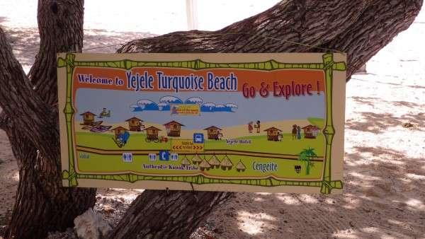Yejele Beach Sign