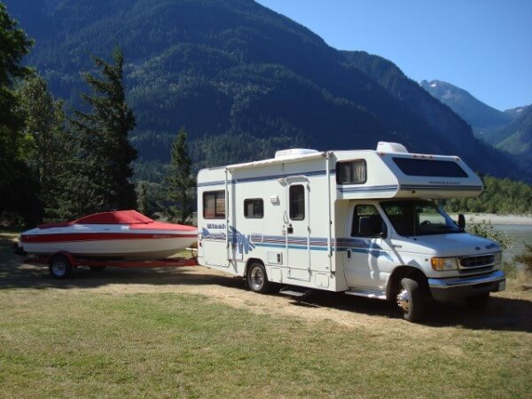 Class C Motorhome and Boat