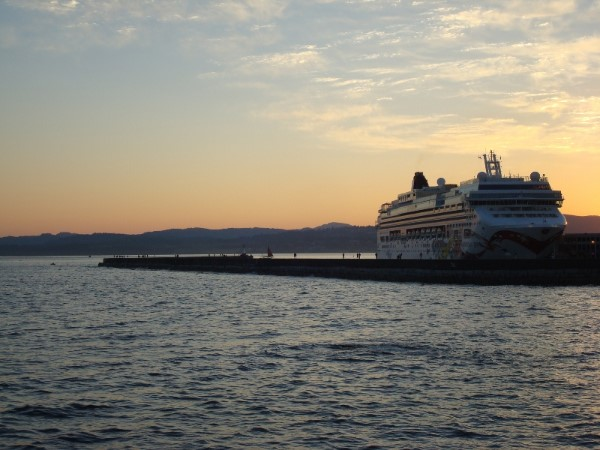 Cruise Ship in Victoria British Columbia