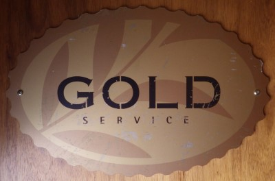 Gold Service Sign