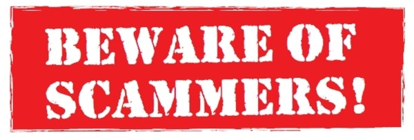 Beware Of Scammers Banner