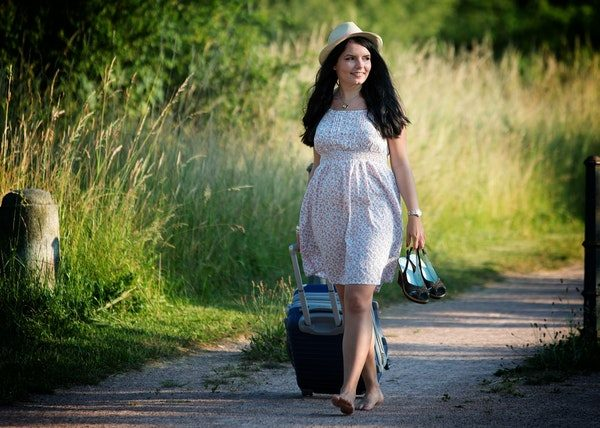 lady with luggage