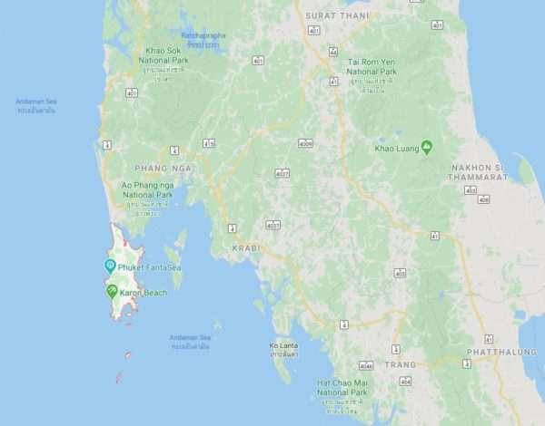 Phuket Google Map