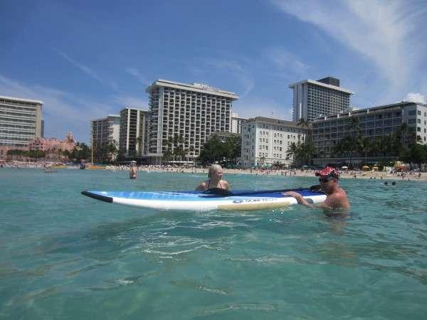 Paddle Boarding In Waikiki Hawaii