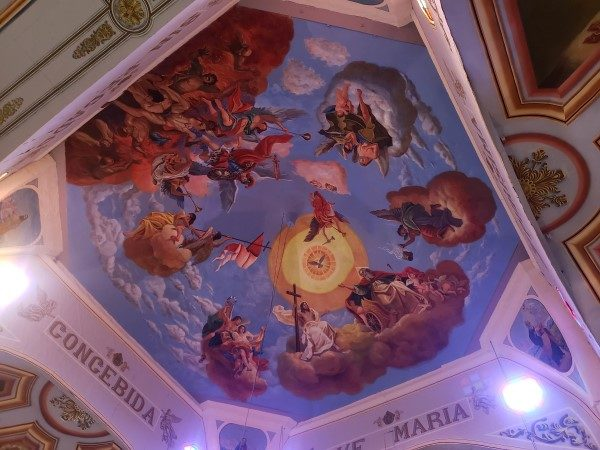 Baclayon Historic Church ceiling painting