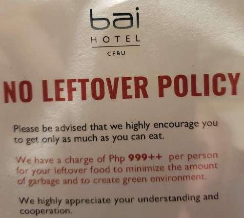Bai Hotel Cebu Leftover Policy