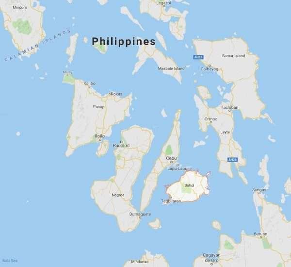 Bohol Philippines map