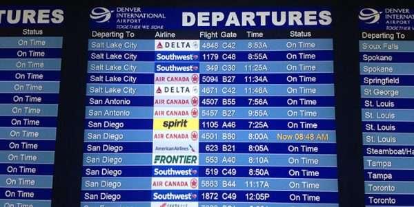 Flight Departures Display