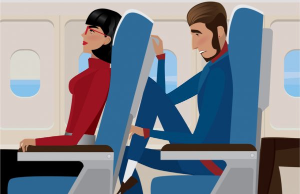No Recline Airplane Seat