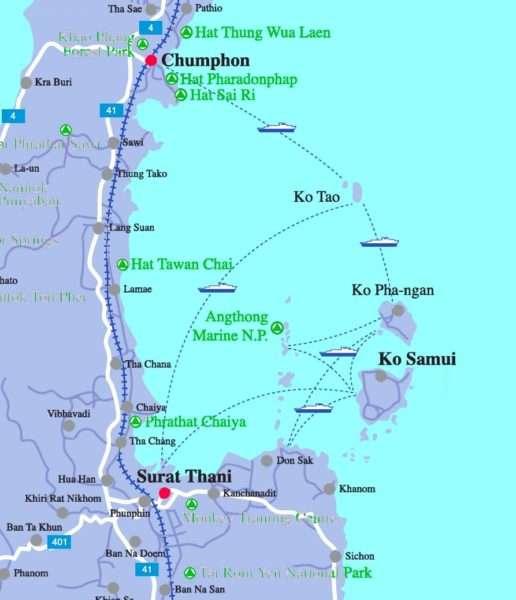 Ko Samui Map