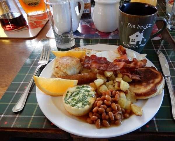 Inn On Capelin Bay Full Breakfast