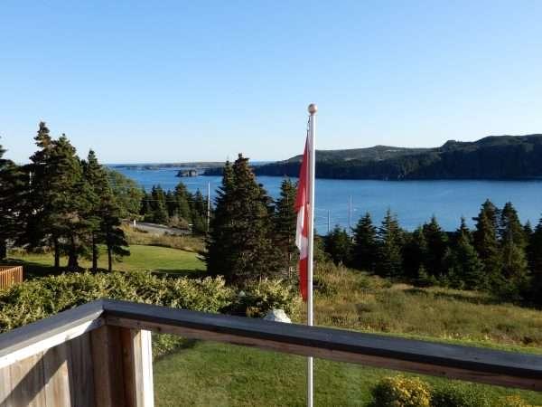 Inn On Capelin Bay Guest Bedroom Balcony View