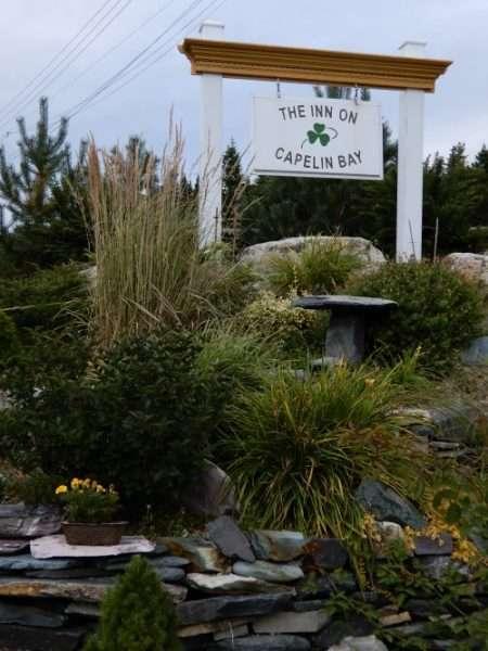 Inn On Capelin Bay Sign