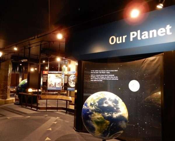 Johnson GEO CENTRE Planet Exhibit
