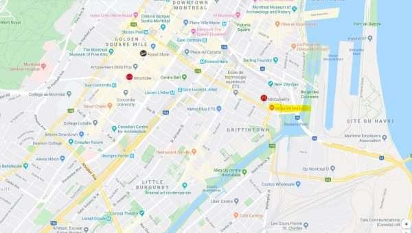 Alt Hotel Montreal Map