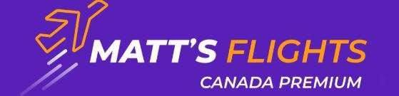 Matt's Flights Canada Premium Logo