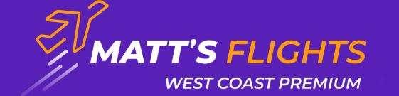Matt's Flights West Coast Premium Logo