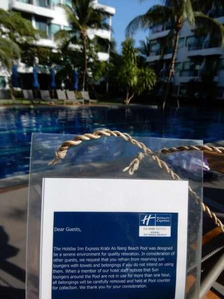 Note on the Holiday Inn Express Krabi Ao Nang Beach Lounge