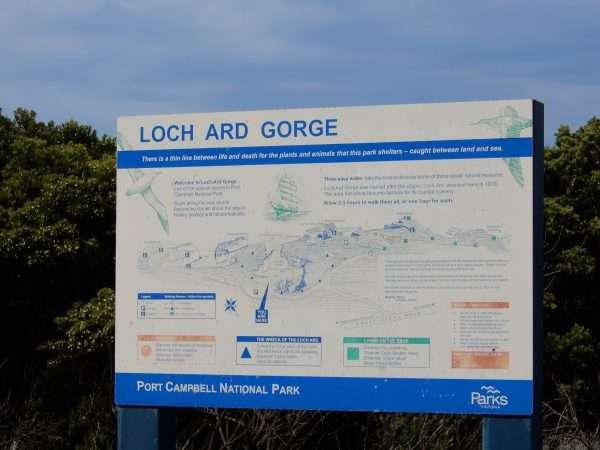 Loch Ard Gorge Map Sign