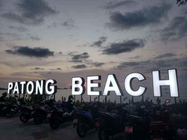Patong Beach Neon Sign