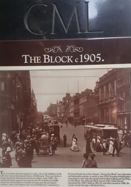 The Block Melbourne History Sign