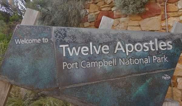 Twelve Apostles Welcome Sign