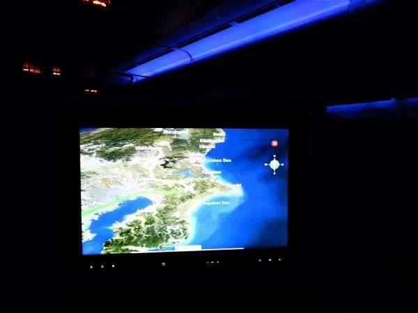 JAL 777-200 Business Class TV Screen