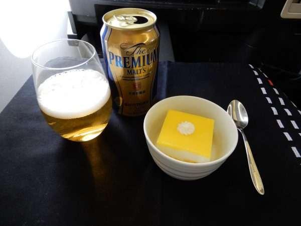 Japan Airlines Business Class Dessert