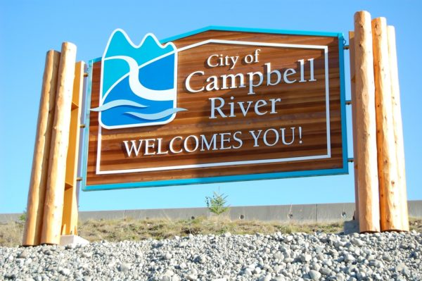 Campbell River Welcome Sign