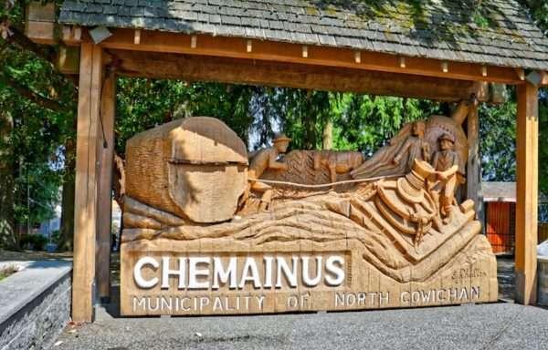 Chemainus Municipality Wooden Sign