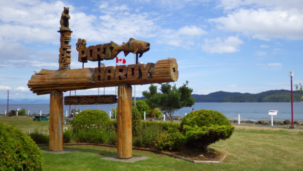 Port Hardy BC Welcome Sign