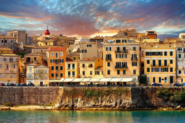 Corfu Town Greece Architecture