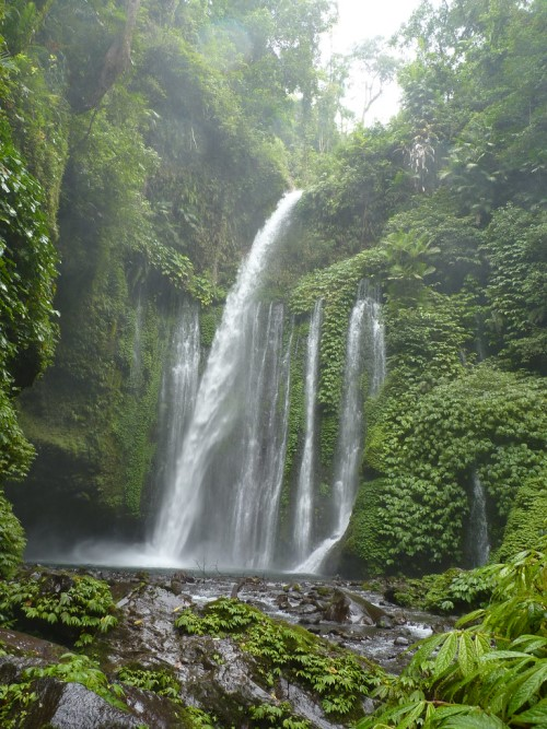 Sendang Gile Waterfall Lombok Indonesia