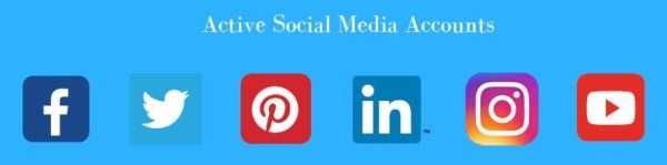 Active Social Media Accounts