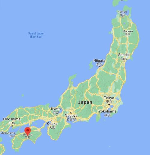 Shikoku Japan Map