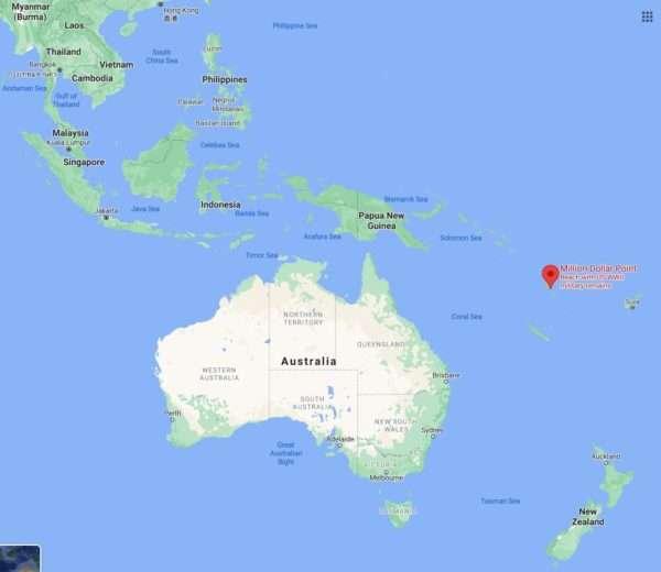 Million Dollar Point Google Map