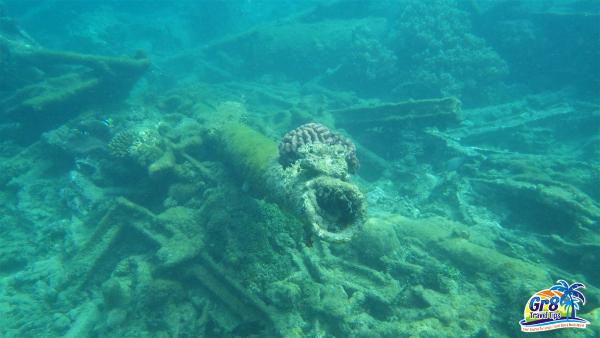 Million Dollar Point Underwater WWII Cannon